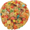Chewy cookie mixed with marshmallows and fruity pebbles cereal
