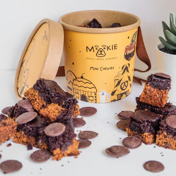 Mookie Mini Chewies Brookie (Vegan & Gluten Free) - Cup of 12 pcs